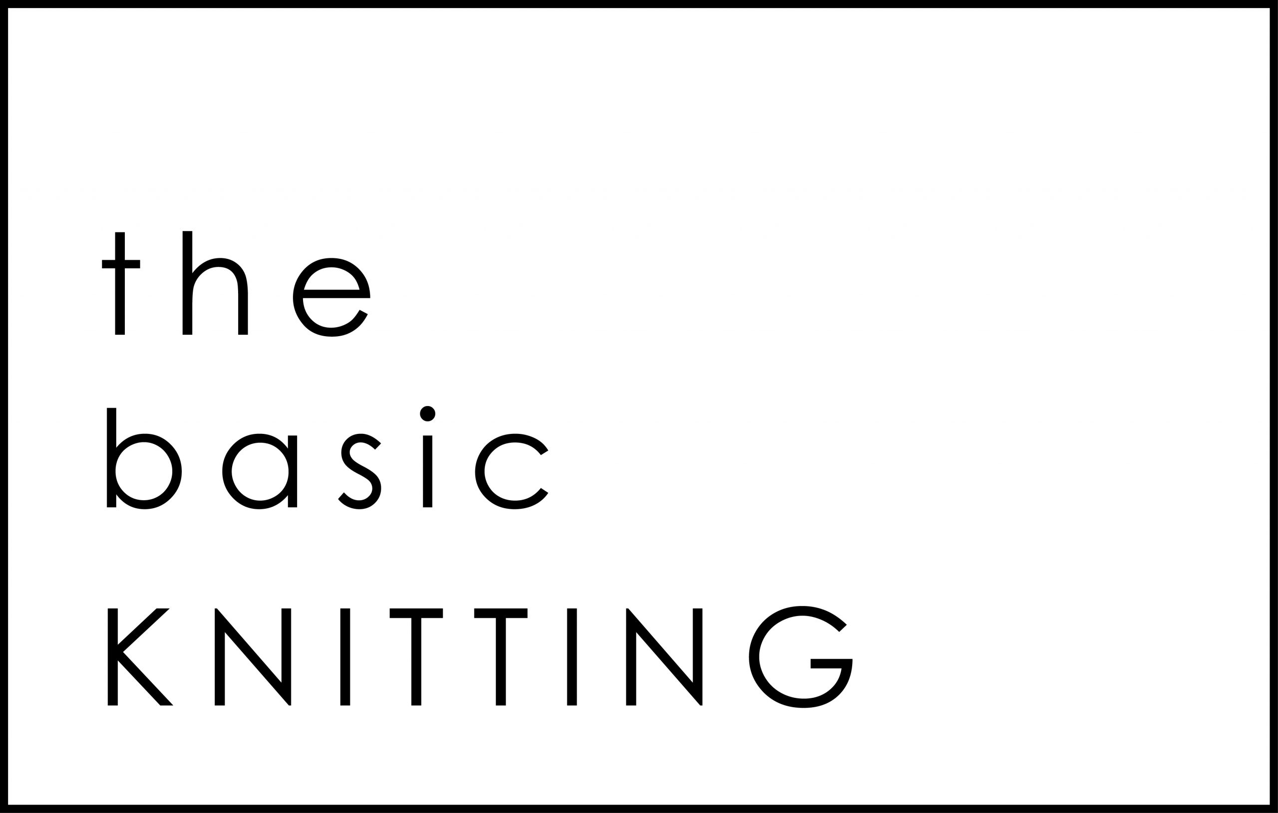 the basic Knitting Logo